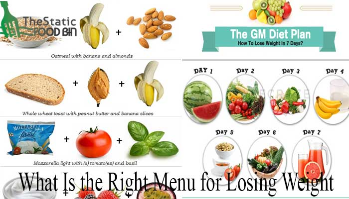 What Is the Right Menu for Losing Weight-min