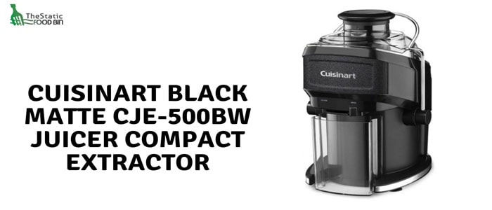 Cuisinart Black Matte CJE-500bw Juicer Compact Extractor