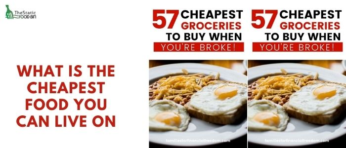 What is the cheapest food you can live on