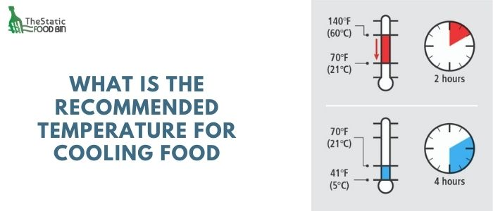 What is the recommended temperature for cooling food